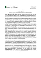 Denison Announces Overnight Marketed Offering (CNW Group/Denison Mines Corp.)