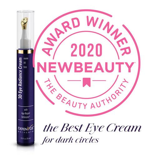 "DefenAge® 3D Radiance Eye Cream Named ""The Best Eye Cream for Dark Circles"" by NewBeauty Magazine"