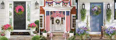 Online retailer Grandin Road, the leading retailer for seasonal home furnishings, is encouraging every household in America to spread happiness and cheer by decorating their front door and sharing it on social media using #makeyourdoorhappy.