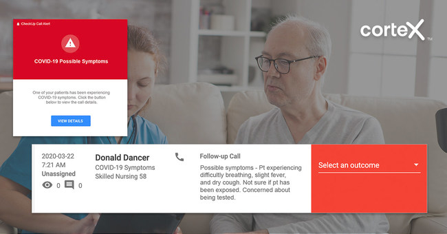 Cortex's calls alert providers when a patient has a new health concern.