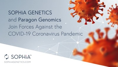 SOPHiA GENETICS and Paragon Genomics Join Forces Against the COVID-19 Coronavirus Pandemic