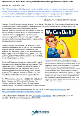 """What """"Rosie the Riveter"""" and a unique WWII training method is teaching us about fighting COVID-19 today."""