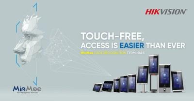 """Hikvision anuncia sus terminales MinMoe de reconocimiento facial """"Touch-free"""" para facilitar aún más el control de accesos y la puntualidad (PRNewsfoto/Hikvision Digital Technology Co)"""