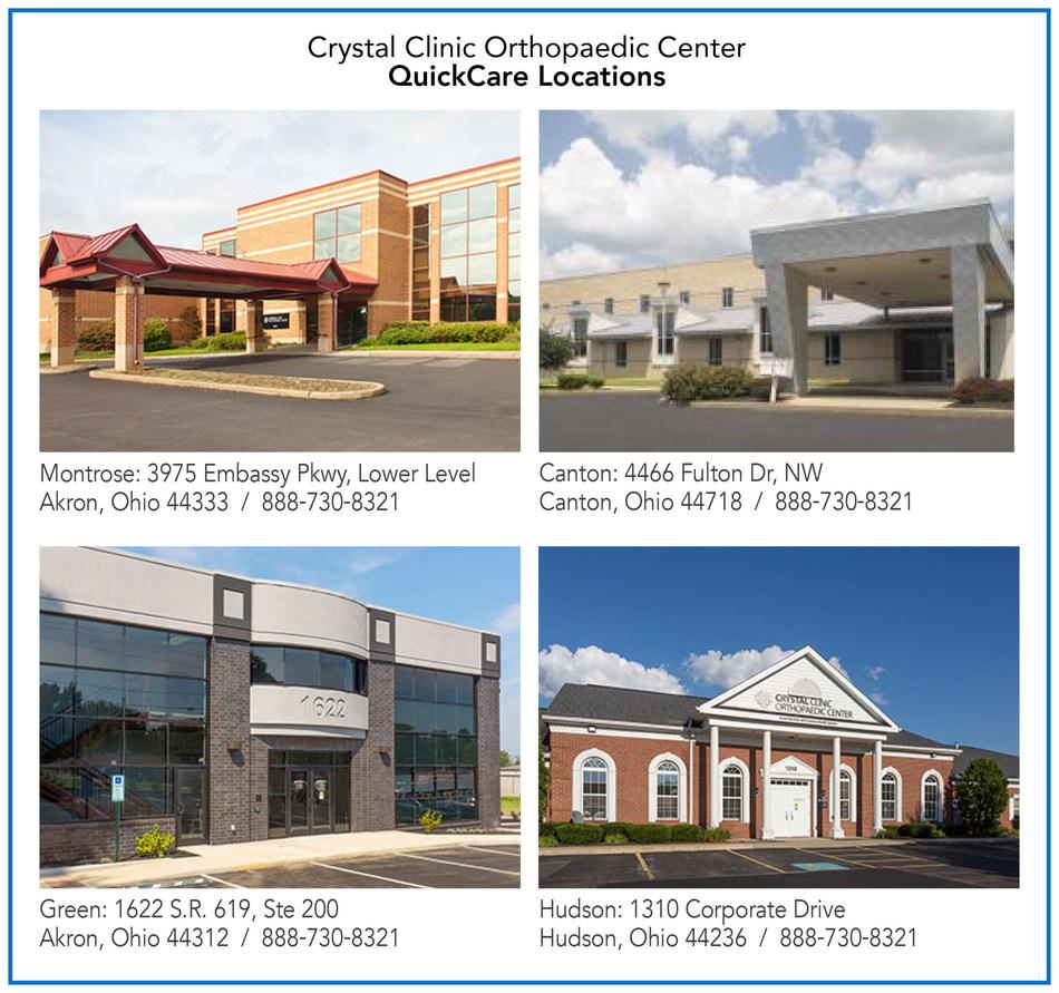 (PRNewsfoto/Crystal Clinic Orthopaedic)