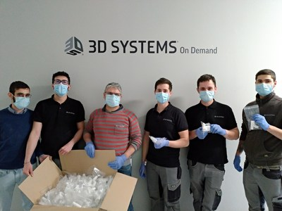 3D Systems' On Demand team in Pinerolo, Italy partnered with Isinnova (Brescia, Italy) to produce 100 valves enabling creation of an emergency ventilator mask.