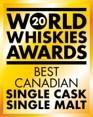 World Whiskies Awards Best Canadian Single Cask Single Malt (CNW Group/Macaloney's Caledonian Brewery & Distillery)
