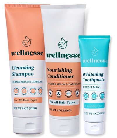 You might find ingredients like Ammonium Lauryl Sulfate, Ammonium Laureth Sulfate, Sodium Lauryl Sulfate, and Sodium Laureth Sulfate in shampoos. Wellnesse's Cleansing Shampoo and Nourishing Conditioner is made with an EWG safe ingredient formula that feeds your hair with nettle, shea, argan and other supportive ingredients to help hair stay thick, strong and shiny!