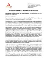 Africa Oil Chairman's Letter to Shareholders (CNW Group/Africa Oil Corp.)