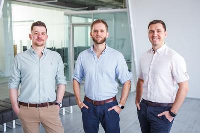 Preply Co-founders: Serge Lukyanov (Head of Design), Dmytro Voloshyn (CTO) and Kirill Bigai (CEO) (PRNewsfoto/Preply)
