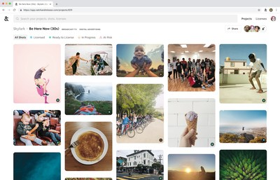 Catch&Release is collaborative workspace that offers team members the ability to find any piece of content from the internet, request rights, track clearance progress and license, all in one place.