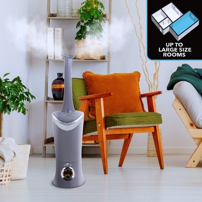Air Innovations Humidifiers key feature is the entire tank and base have an antimicrobial inhibitor which means no microbes can grow in the tank or base, no green slime and no maintenance.