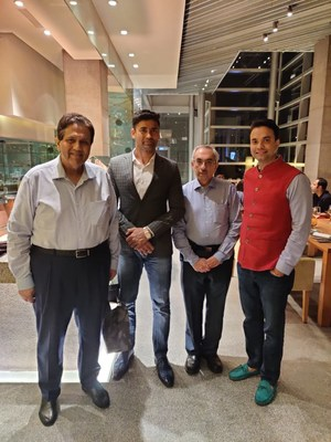 Yuva Unstoppable Patrons Mr Dilip Piramal, Mr Sangram Singh & Mr Nadir Godrej with Founder Amitabh Shah