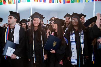 Bentley University graduates celebrate their milestone achievement at last year's commencement ceremony.