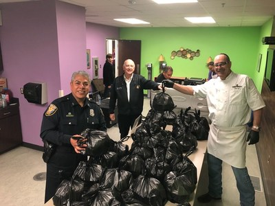 Buffalo Brothers delivers meals purchased by Higginbotham to the City of Fort Worth Emergency Operations Center workers.
