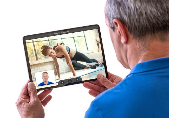 Now with Telehealth, patients can visit their physical therapist without going into the clinic.