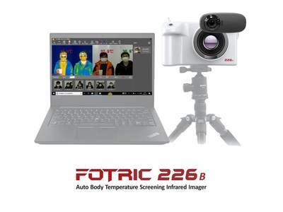 Dispositivo de detección infrarroja automática de temperatura FOTRIC 226B
