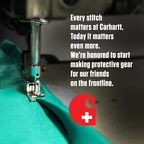 Carhartt Shifts U.S. Production to Support the Hardworking Men and Women Serving and Protecting Us During COVID-19 Pandemic