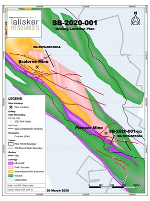 Drilling Location Plan (CNW Group/Talisker Resources Ltd)