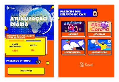 """""""Plantão COVID-19"""" no Kwai"""