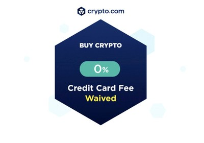 Waiver of 3.5% credit card fee on crypto purchases for all users (PRNewsfoto/Crypto.com)