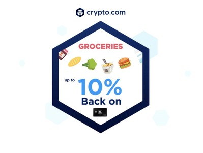 10% back on groceries and food delivery for our metal card holders (5% for plastic) (PRNewsfoto/Crypto.com)