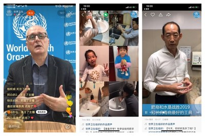 WHO engages with users on Kuaishou through livestreams and short videos.
