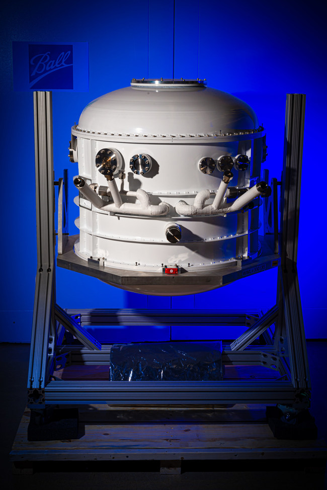 The Ball Aerospace-built cryostat was delivered to the University of Arizona for a NASA balloon mission.