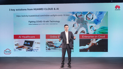 Deng Tao, presidente de HUAWEI CLOUD Global Market, lanzó el plan de acción global (PRNewsfoto/HUAWEI CLOUD)