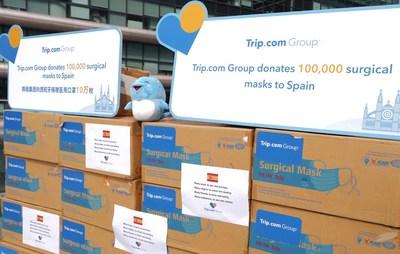 Trip.com Group dona mascarillas a España como parte de su donación de 1 millón de mascarillas por todo el mundo