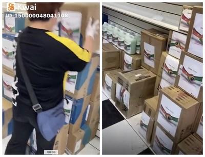 Esse vídeo do Kwai mostrando que alguns chinês locais criou um grupo de doações destinadas a hospitais públicos.
