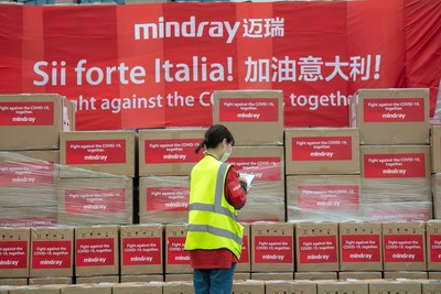 Mindray, a leading provider of medical devices and solution, has completeed first batch delivery of medical devices to Italy within 15 Days, after receiving the contract from the Italian government to supply nearly 10,000 medical devices for patient monitoring and treatment in connection with COVID-19.