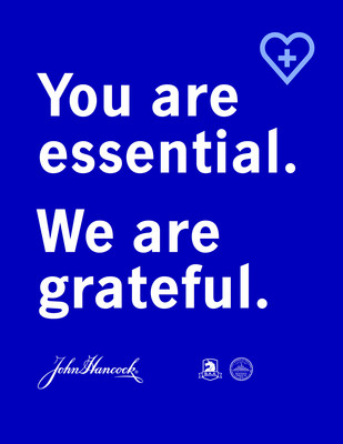 People can participate and help turn the Commonwealth blue by sharing these messages of gratitude for our frontline workers in their homes and online. (CNW Group/John Hancock)