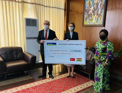 Aksa Energy Donates GHS 2.5 Million to Support Ghana's COVID-19 Combat