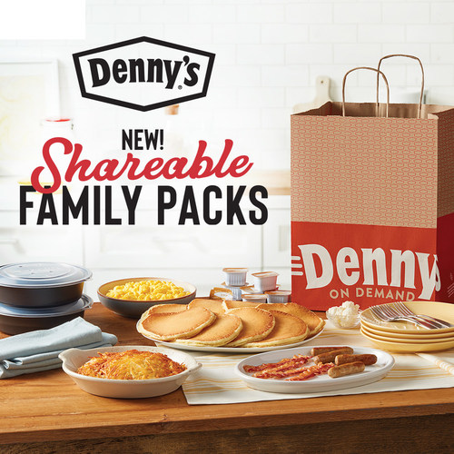 Available nationwide on Tuesday, April 7, Denny's new Shareable Family Packs can satisfy your whole family's Denny's cravings without ever leaving the house.