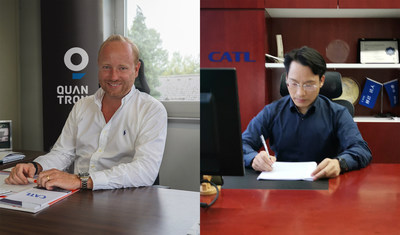 Quantron AG becomes importer of CATL in Europe. Quantron AG Director Andreas Haller - Akin Li CATL Director.