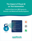 Impact of Visual AI on Test Automation Shows 5.8x Faster Authoring, 5.9x Better Test Code Efficiency, and a 4.6x Increase in Test Stability