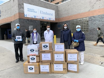 Tzu Chi New York volunteers deliver urgently needed medical supplies, including PPE, to the Elmhurst Hospital, informally known as the 'epicenter of the epicenter,' in Queens, NY.