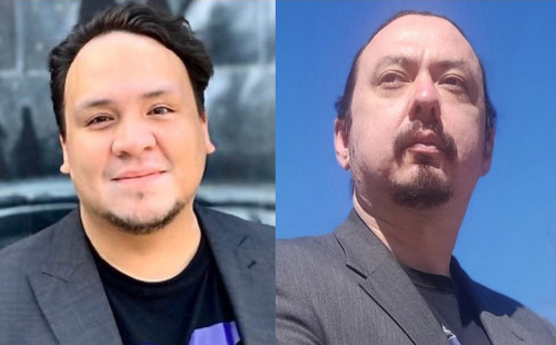 Sean Vanderklis and Karl Dockstader, co-hosts of the Indigenous-focused weekly radio show One Dish, One Mic, are the recipients of the 2020 CJF-CBC Indigenous Journalism Fellowships. (CNW Group/Canadian Journalism Foundation)