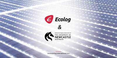 Ecolog International y la Universidad de Newcastle-Australia comercializarán Printed Solar