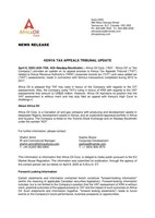Kenya Tax Appeals Tribunal Update (CNW Group/Africa Oil Corp.)