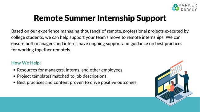 Parker Dewey Introduces Remote Internship Support For Summer 2020 Programs Impacted By COVID-19