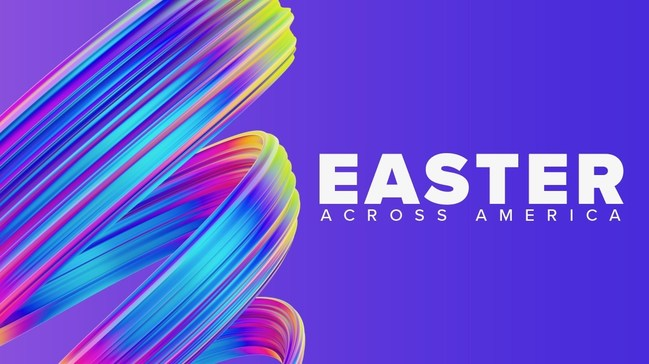 Free Live Stream Event with Faith + Family + Fun at EasterAcrossAmerica.com on April 12, 7pm EDT, 6pm CDT, 4pm PDT