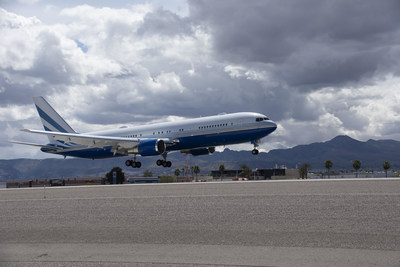 767 aircraft owned by Las Vegas Sands Chairman Sheldon G. Adelson and sent to Guangzhou, China to transport the protective gear, arrived in Las Vegas with an additional one million masks for front-line crisis response in Nevada.