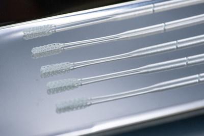 Origin Test Swabs on metallic tray
