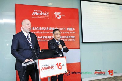 Mr. William Sutton, Assistant Country Director, FDA China, and Mr. Zeli Yu, RAC Global are speaking