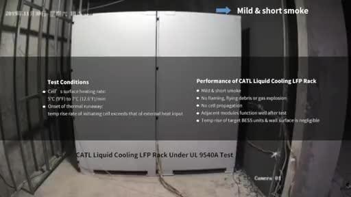 CATL Liquid Cooling LFP Rack Under UL 9540A Test