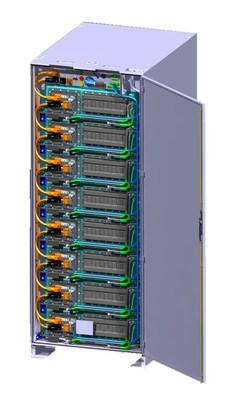 CATL Liquid Cooling LFP Battery Rack : Support de batteries LFP à refroidissement par liquide de CATL (PRNewsfoto/CATL)
