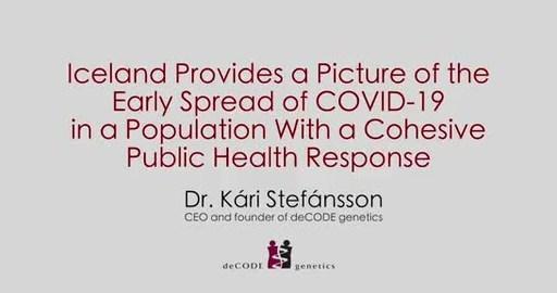 Islandia ofrece un panorama de la propagación temprana del Covid-19 en una población con una respuesta organizada de salud pública