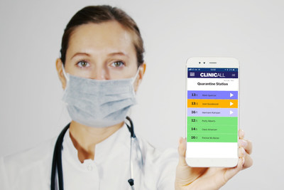 Caption: The ClinicAll Communicator App used by a nurse. (Image: Azhorov / ClinicAll)