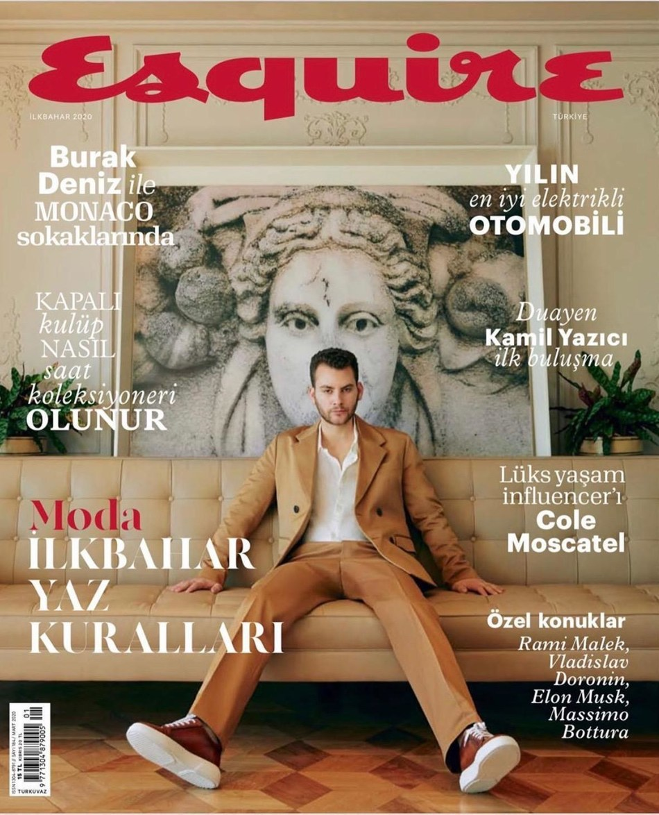 Cole Moscatel is Esquire Turkey's April Cover Star